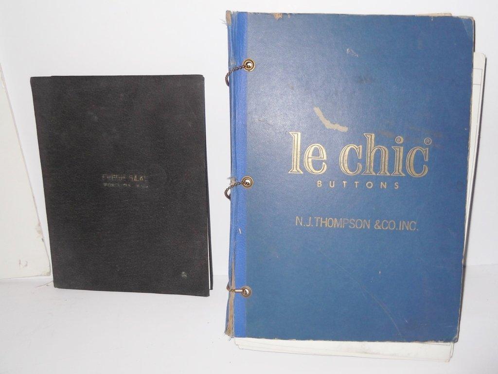 2 advertising sample books