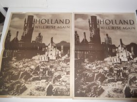 "Wwii ""holland Will Rise Again"" Posters"