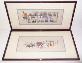 2 Chinese Watercolor & Ink Paintings
