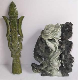 2 soapstone figures