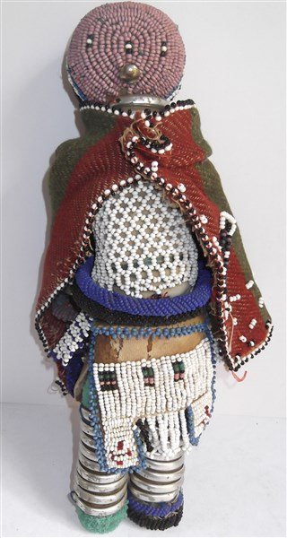1970's Central African beaded doll