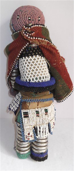 1970's Central African beaded doll - 5