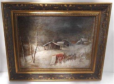 Oil on canvas by Cornelius Krieghoff