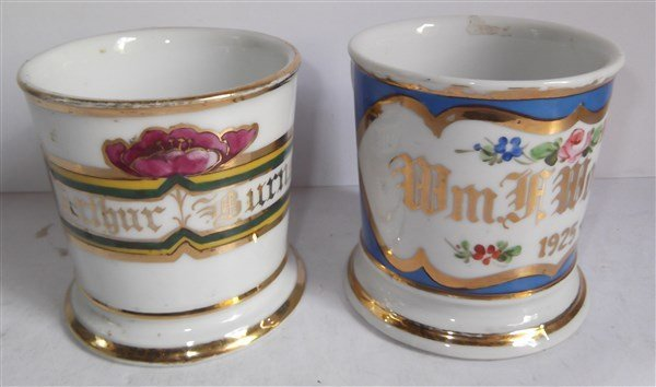 5 late 19th/early 20th c. shaving mugs - 6