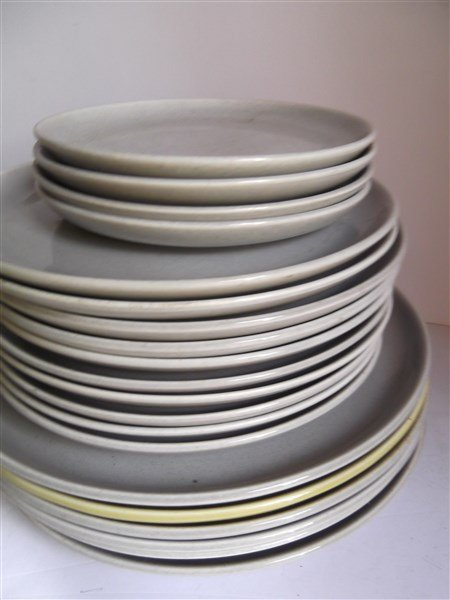 Russel Wright plates; cups; saucers - 2