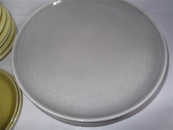 Russel Wright plates; cups; saucers - 7