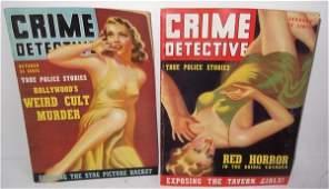 2 Crime Detective magazines