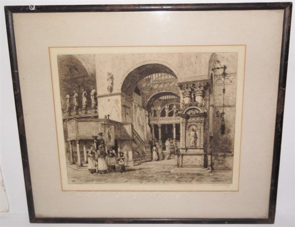 Etching singed Axel Haig