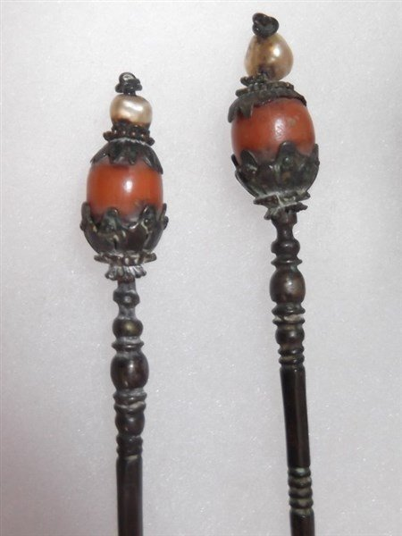 19th c. Japanese hair sticks - 5