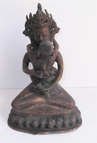 South East Asian deity metal figure