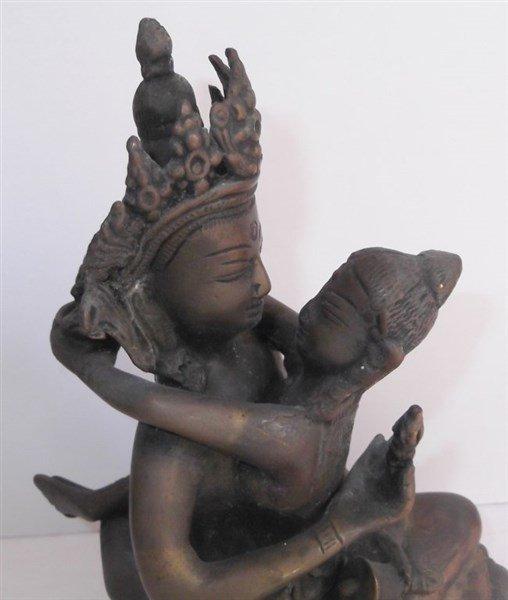 South East Asian deity metal figure - 3