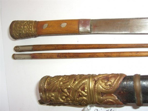 3 sets of Tibetan utensils - 2