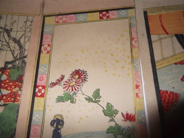 2 sets Japanese triptych woodblock prints - 7