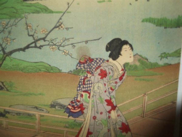 2 sets Japanese triptych woodblock prints - 8