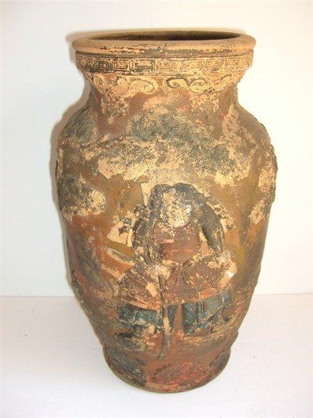 Asian pottery vase - 2