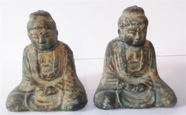 Pair of Buddha bookends