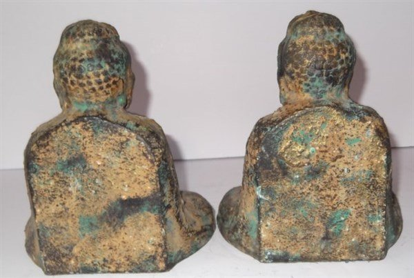 Pair of Buddha bookends - 3