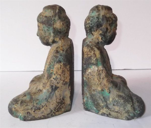 Pair of Buddha bookends - 4