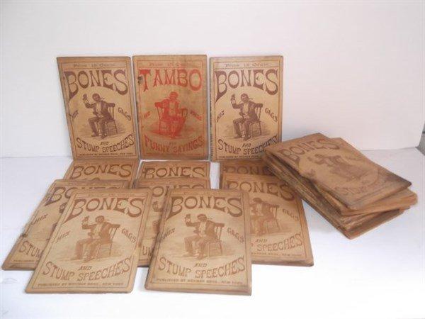 22 1800's bones & tambo books