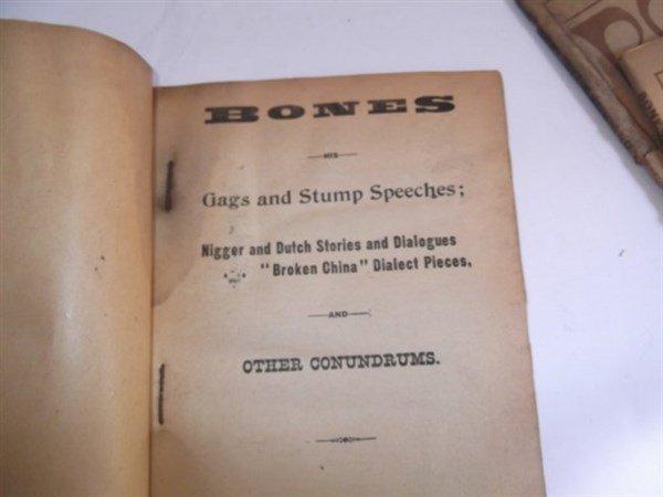 22 1800's bones & tambo books - 2