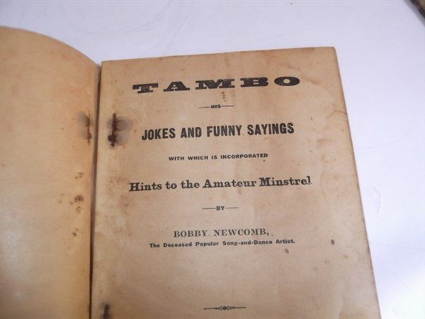 22 1800's bones & tambo books - 3