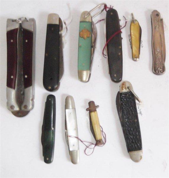 10 piece pocket knives