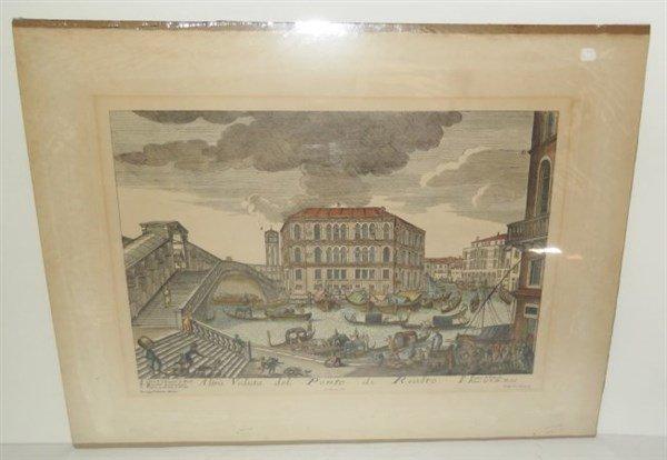 2 original 18th c. colored etchings - 2