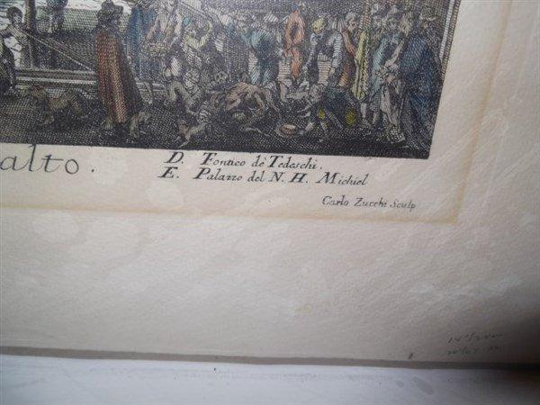 2 original 18th c. colored etchings - 3