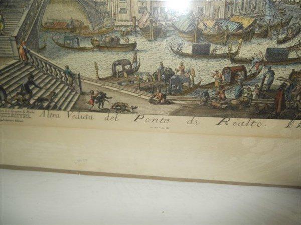 2 original 18th c. colored etchings - 5