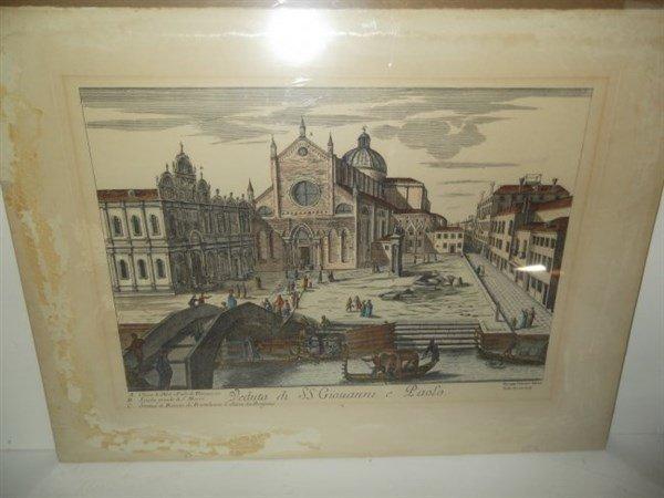 2 original 18th c. colored etchings - 6