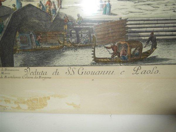 2 original 18th c. colored etchings - 9