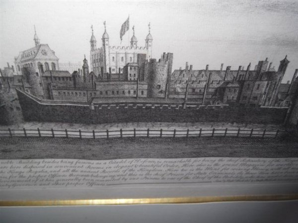 The West View of the Tower of London Engraving - 2