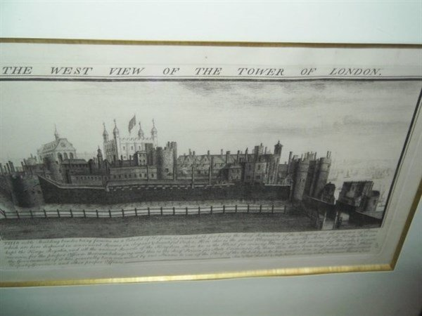 The West View of the Tower of London Engraving - 5