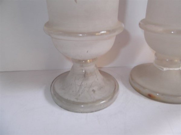 6 Victorian Bristol glass vases - 2