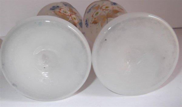 6 Victorian Bristol glass vases - 5