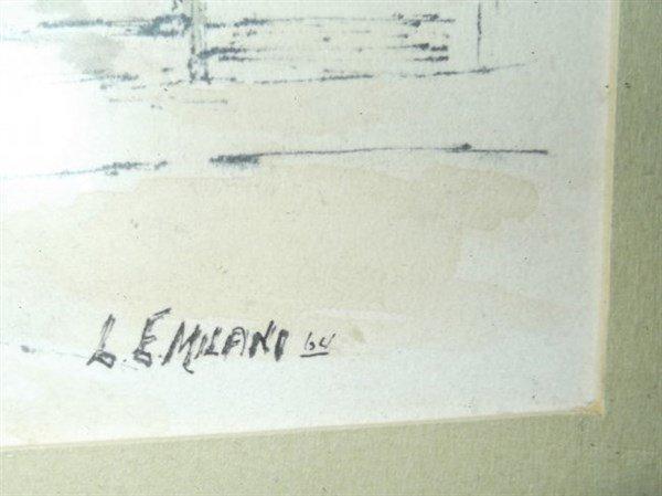Mixed media signed L.E. Milani - 2