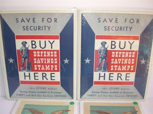4 WWII posters - 2