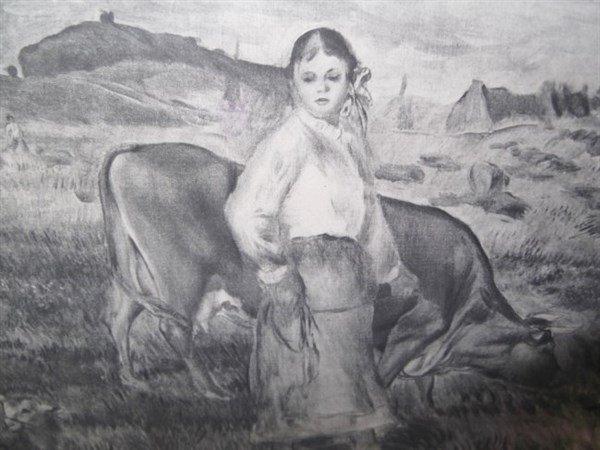 Pastoral scene etching - 3