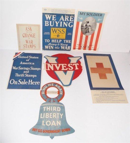 7 piece WWI paper advertisements