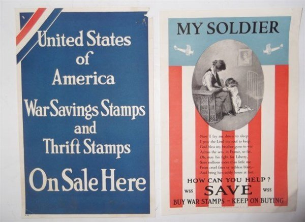 7 piece WWI paper advertisements - 4