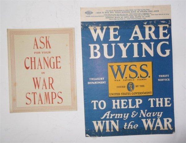 7 piece WWI paper advertisements - 6