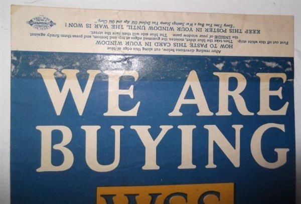 7 piece WWI paper advertisements - 7