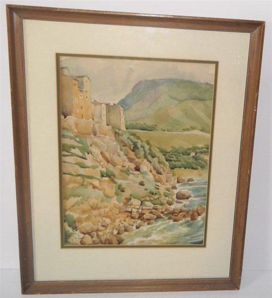 Watercolor signed Ciotti