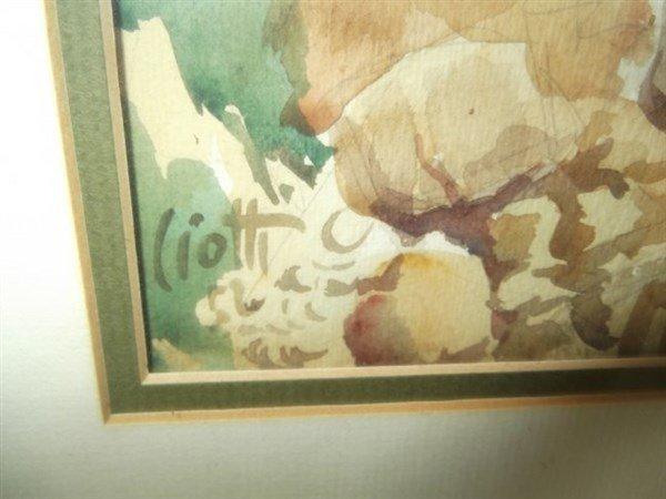 Watercolor signed Ciotti - 2