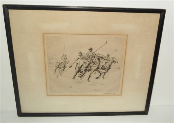 Etching signed Nat Lowell