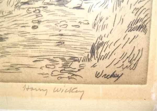 Etching signed Harry Wickey - 2