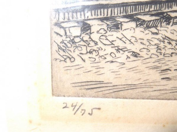 Etching signed Harry Wickey - 3
