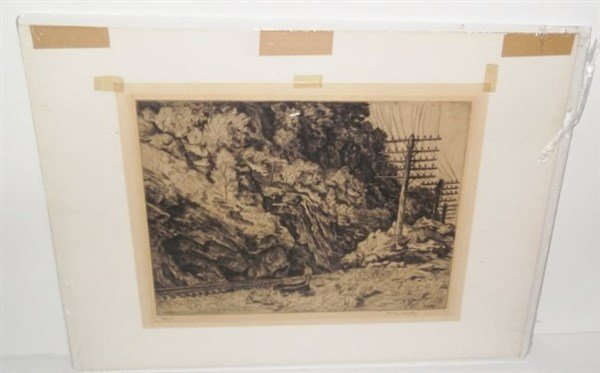 Etching signed Harry Wickey - 4