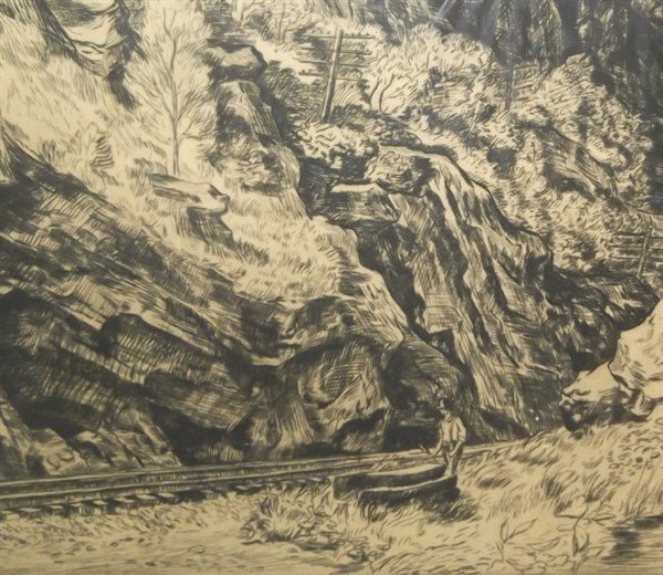 Etching signed Harry Wickey - 5