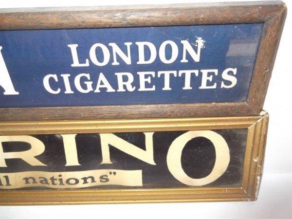 2 framed cardboard cigarette store displays - 3
